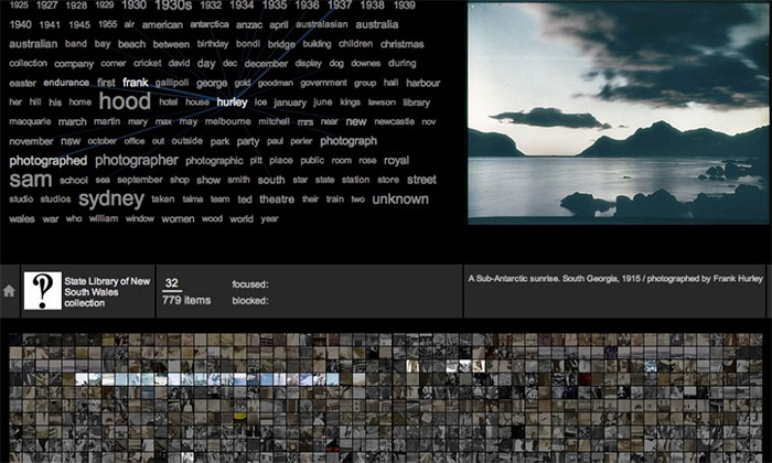 Screenshot of the Flickr Commons Explorer