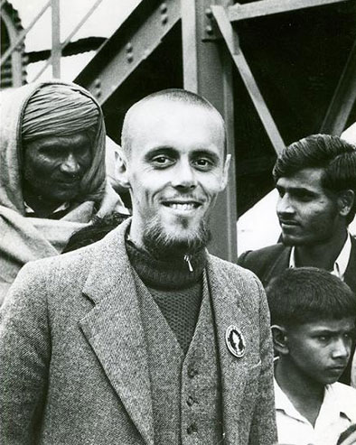 Charles Cameron and three others in India circa 1975